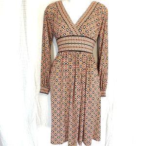 MAGGY LONDON Long Sleeve Knee Length Dress ~sz 6